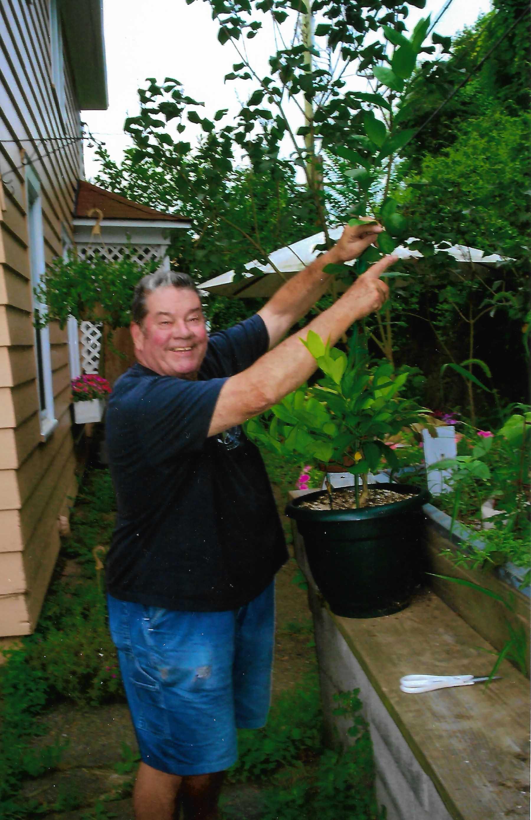 Vinny with plants