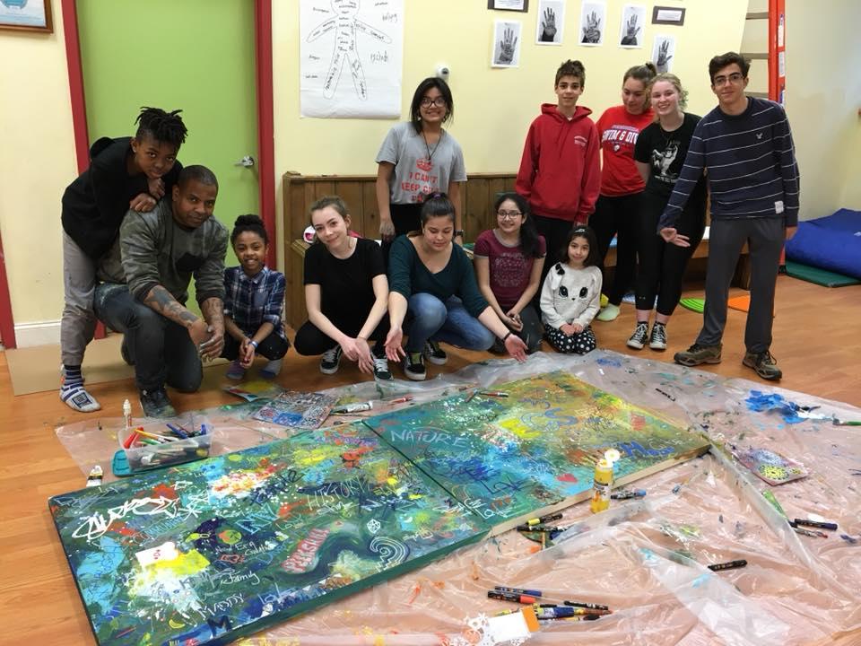 Group painting NECS