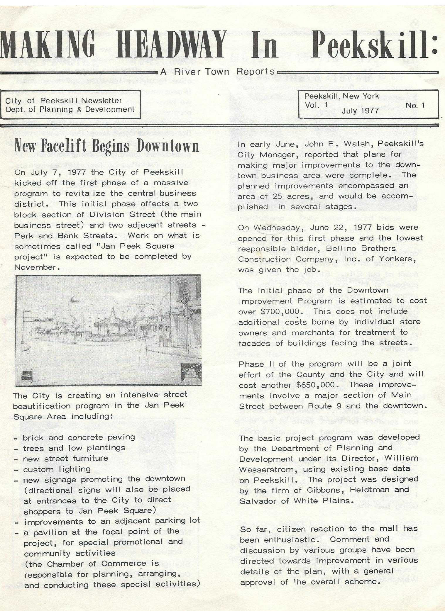 Newsletter from 1977