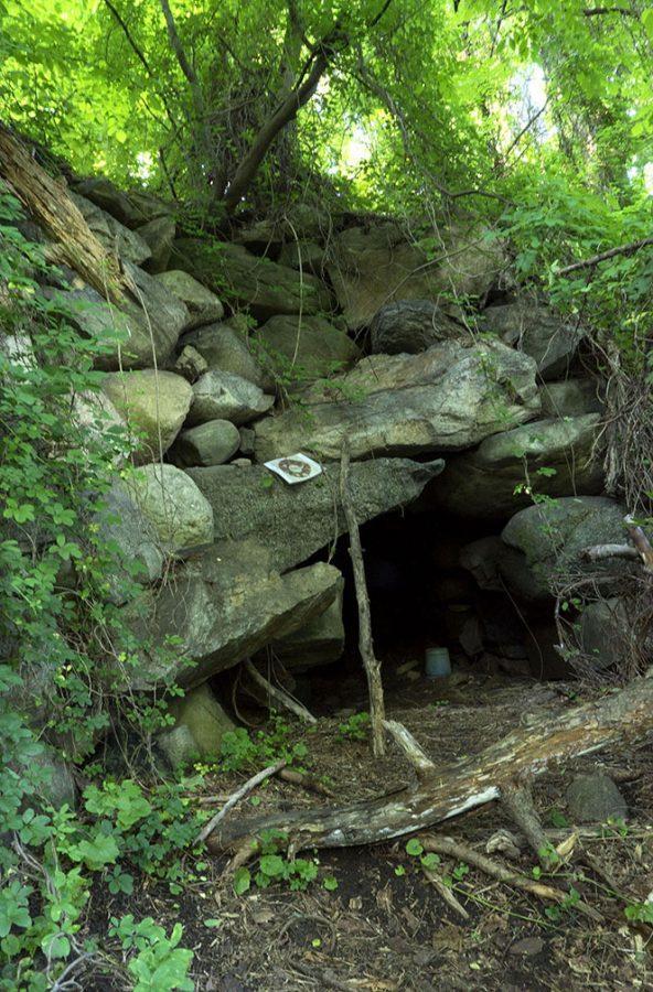 stone entry to Undergraoud Railroad in Peekskill