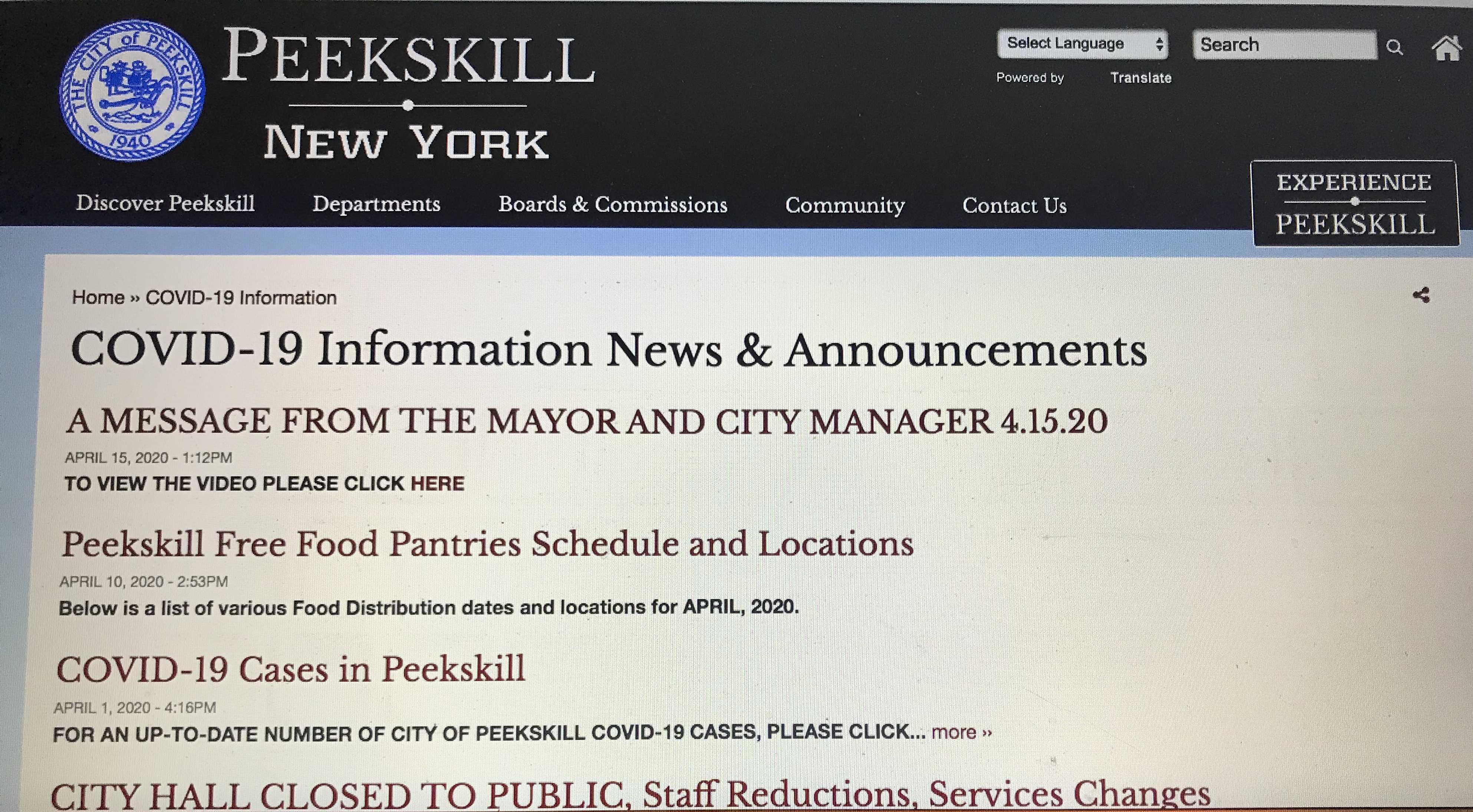 Post city website