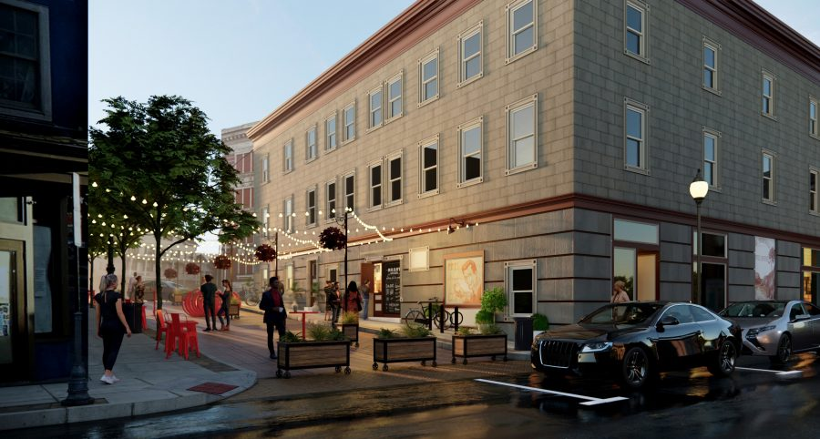 Civic group proposes new plaza on shortest street in downtown