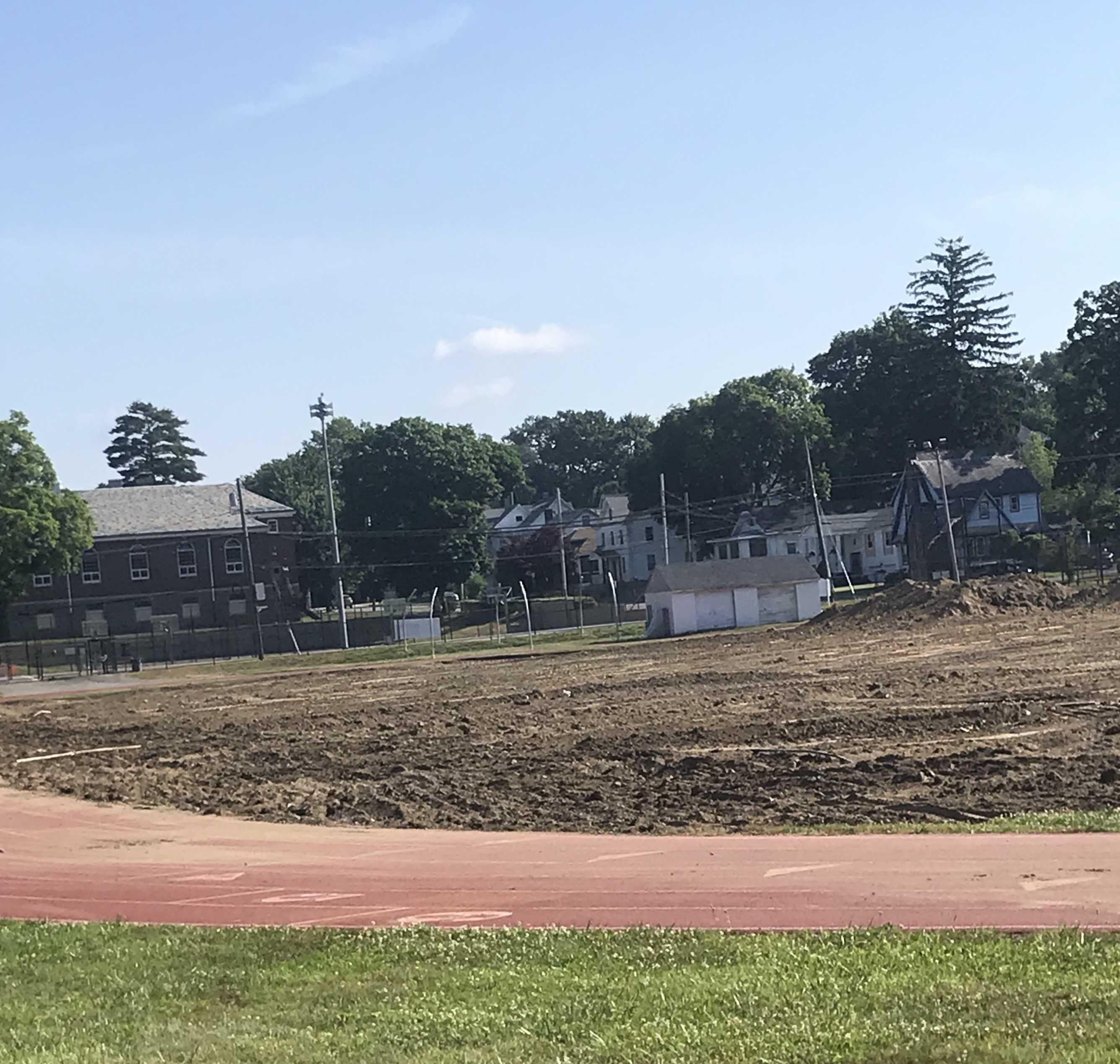 Field torn up