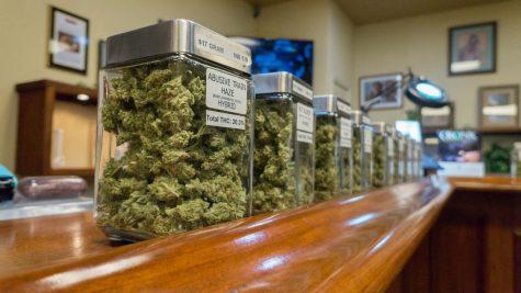 Inside a cannabis dispensary